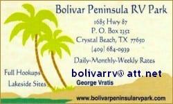 Bolivar Peninsula RV Park